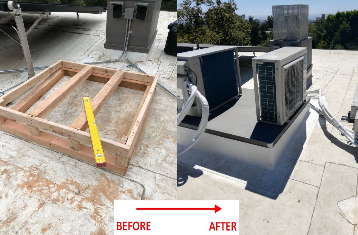 Before and after new HVAC units