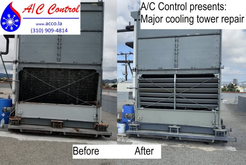 Before and after photos of HVAC